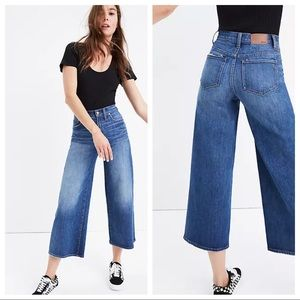 Madewell wide leg crop jeans sz 31 (g152)